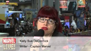 Kelly Sue DeConnick from Captain Marvel Stops By Marvel LIVE! at New York Comic Con 2014