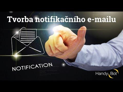 Tvorba notifikačního e-mailu