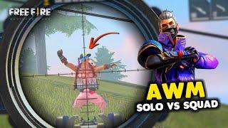 Fan Ne Muje AWM Diya Solo vs Squad Me OverPower Gameplay - Garena Free Fire