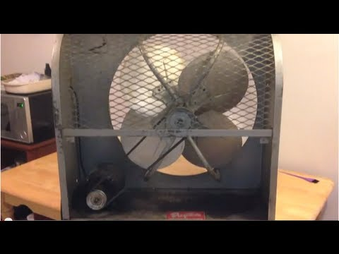 Vintage 24 Quot Dayton Belt Drive Window Exhaust Fan Youtube