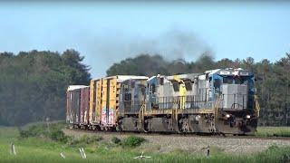 HD Railfanning Pan Am Between Lewiston & Scarborough ME on 7/7/2019: RUPO Chase, POED, Amtrak & POWA