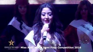 Miss Arab World 2016 -Simi Final - at Hollywood