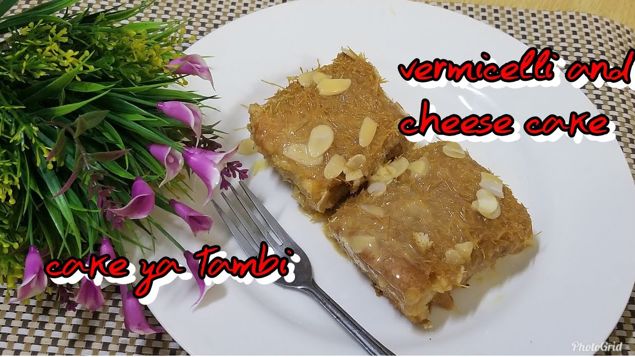Jinsi ya kupika Vermicelli and cheese cake/ cake ya tambi