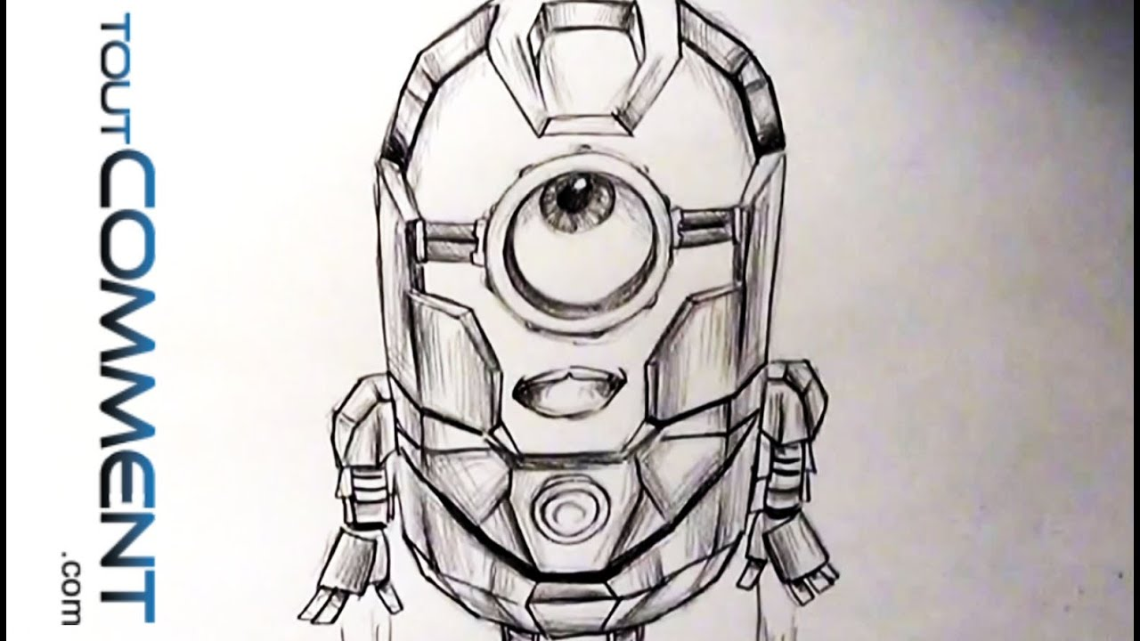 Comment dessiner un minion iron man how to draw minion - Dessin de minion ...