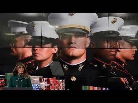ميلانيا ترامب تقدم هدايا العيد للأطفال في قاعدة عسكرية بواشنطن  - نشر قبل 3 ساعة