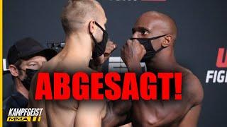 Eilmeldung: CHAOS vor UFC Event! Co-Main erneut ABGESAGT!