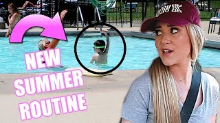 DAY IN THE LIFE WITH A NEWBORN + TODDLER! NEW SUMMER ROUTINE | Liza Adele