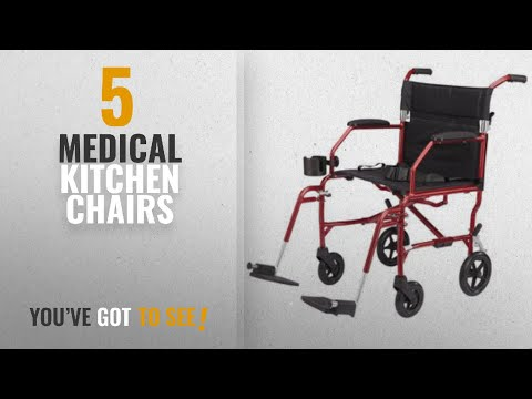 """Top 10 Medical Kitchen Chairs [2018]: Medline Heavy Duty Bariatric Transport Chair, Extra Wide 22"""""""
