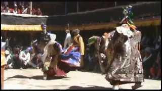Tibetan Buddhist Ritual Dance, Upper Mustang, Nepal.