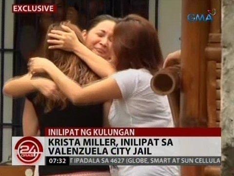 24 Oras: Krista Miller, inilipat sa Valenzuela City Jail