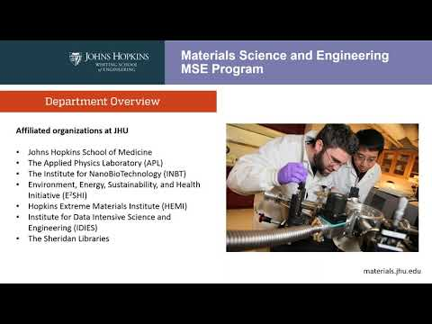 Materials Science and Engineering Online Info Session (Fall 2017)