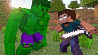 Minecraft Herobrine Vs Hulk - Batalha SEM MODS