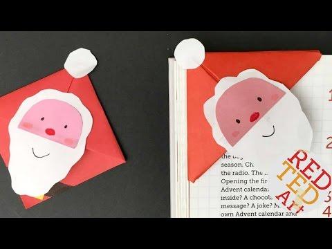 Easy Santa Bookmark Corner - Paper Christmas DIYs