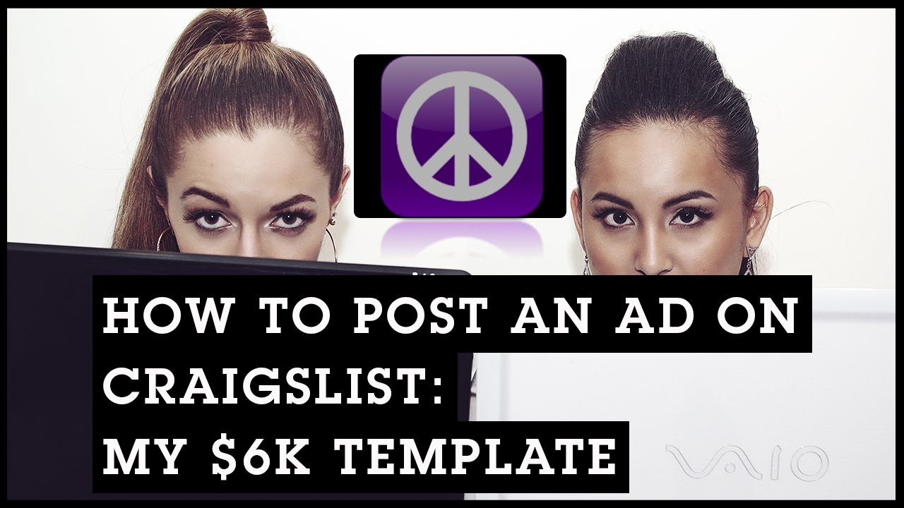 How To Post An Ad On Craigslist My 6k Template Youtube