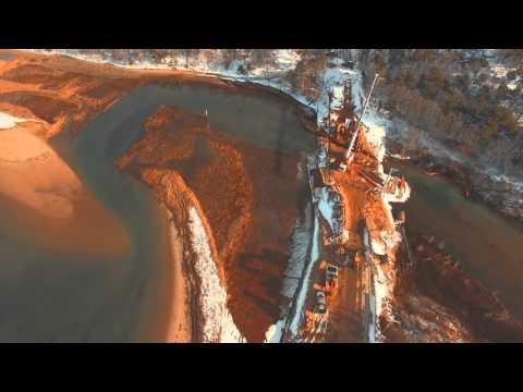 Cape Cod Chronicle - Muddy Creek Bridge Construction Aerials (4k)
