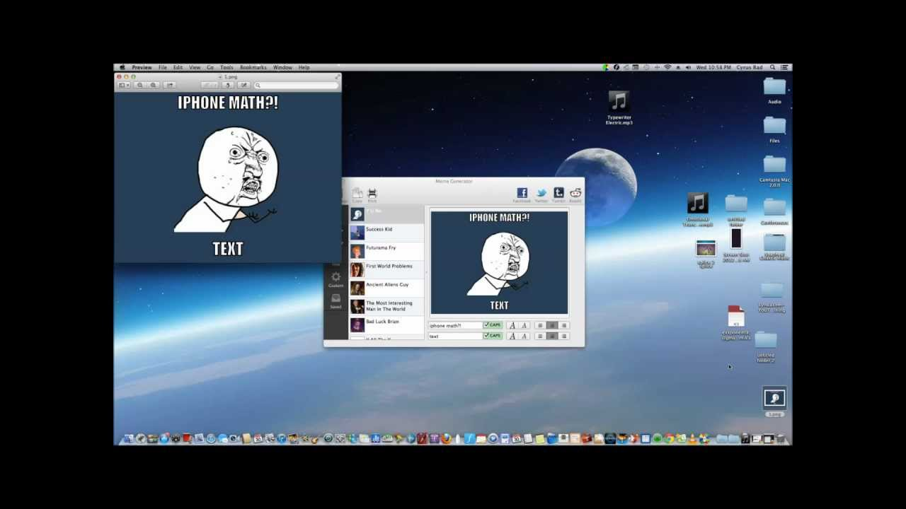 maxresdefault meme generator for os x how to create memes on macs youtube