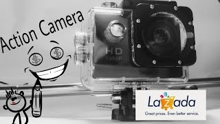 Action Camera 1080p lazada (REVIEW AND UNBOXING)
