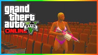 GTA 5 Online: Secret Locations - INSIDE The Movie Theater In GTA 5 Online (GTA 5 Glitches)