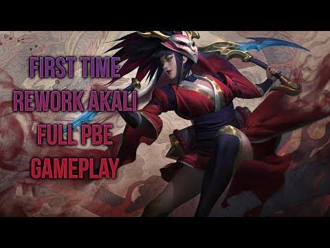 First Time Rework Akali FULL PBE Gameplay [League of Legends] [Deutsch / German] thumbnail
