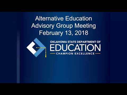 Alternative Ed Advisory Group Meeting 2-13-18