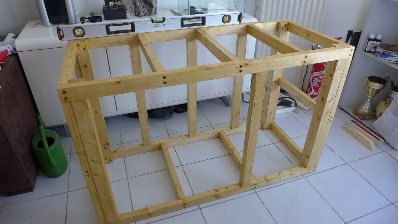 fabrication un meuble aquarium en bois