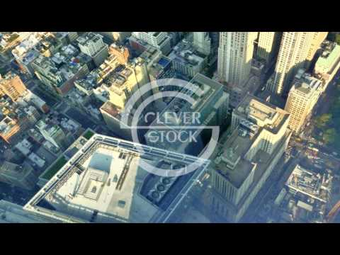 Aerial Drone Footage New York Buildings Modern Famous Travel Manhattan Tourism City USA Crowded