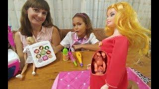Hamile oyuncak bebek doğum yapıyor oyuncak barbie toys unboxing