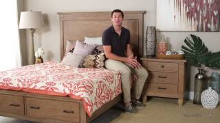 Brownstone Village 3 Drawer Nightstand - Aged Patina - Product Review Video