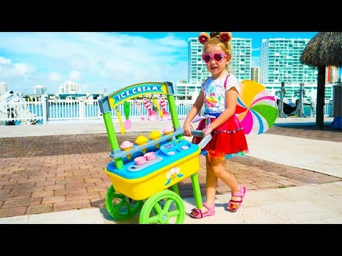 Nastya Pretend Play with ice cream toys