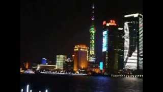 CHINE SHANGHAI DE NUIT VUE SUR LA BAIE 1