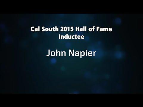John Napier - 2015 Cal South Hall of Fame