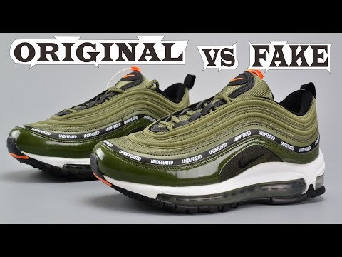 Nike Air Max 97 x Undefeated Olive Green Original & Fake