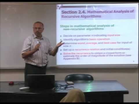 Lecture 6: Fundamentals of the Analysis of  Algorithm Efficiency -4