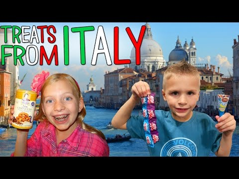 Kids Try Foods from Italy || TryTreats