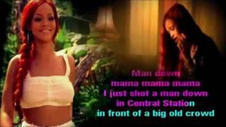 Rihanna - Man Down karaoke com back vocal