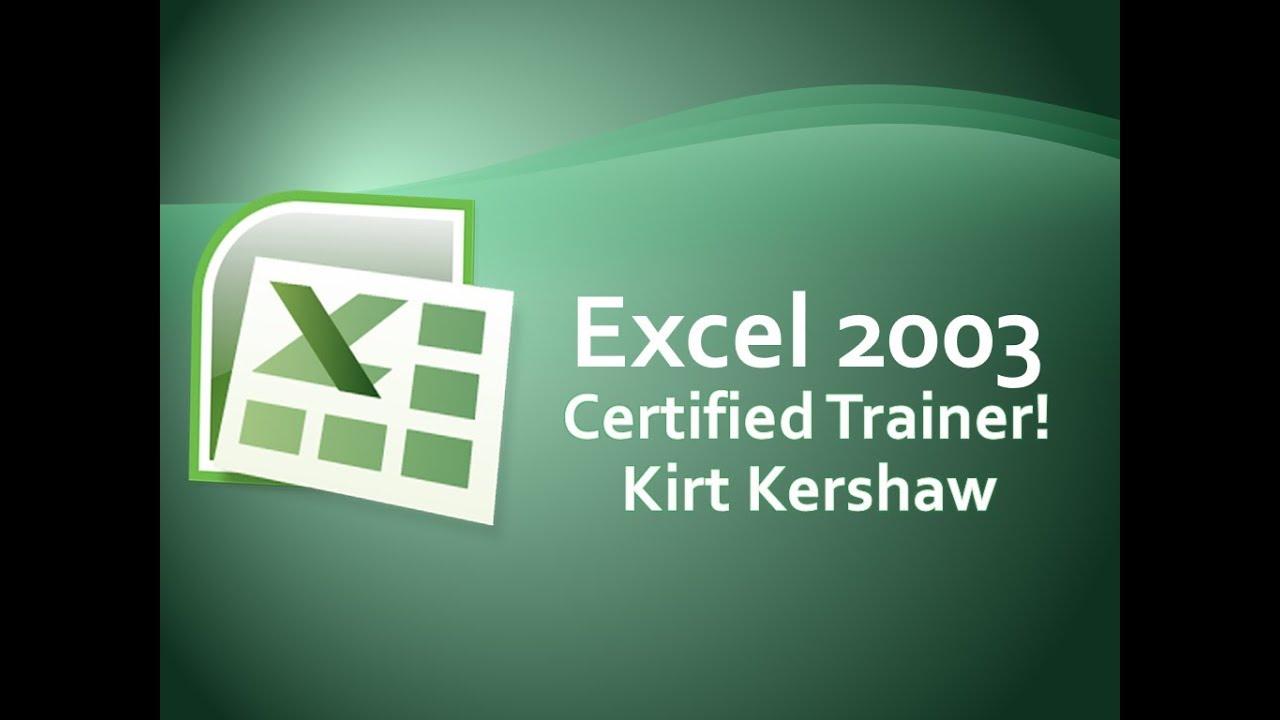 Excel 2003 Beginner Spreadsheet Tutorial and Overview