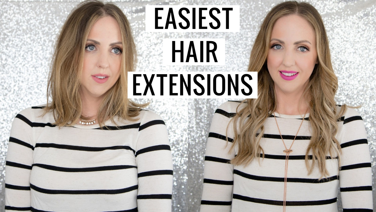 How To Put On Hair Extensions Hidden Crown Hair Extensions Review