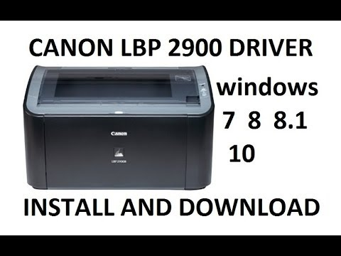 XP CANON WINDOWS 2900 IMPRIMANTE TÉLÉCHARGER LBP PILOTE POUR