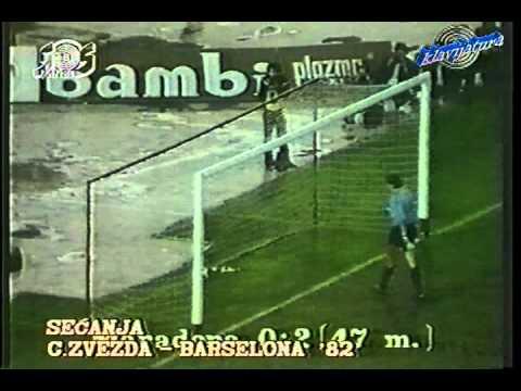 Season 1982/1983. Red Star Belgrade - FC Barcelona - 2:4 (highlights)