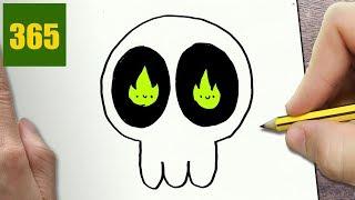 Come Disegnare Cranio Di Halloween Kawaii Passo Dopo Passo