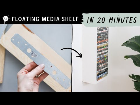 Easy Media Shelf DIY - Make It In 20 Minutes!