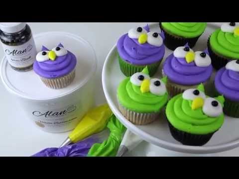 Adorable Buttercream Owl Cupcakes Fast Fabulous Projects