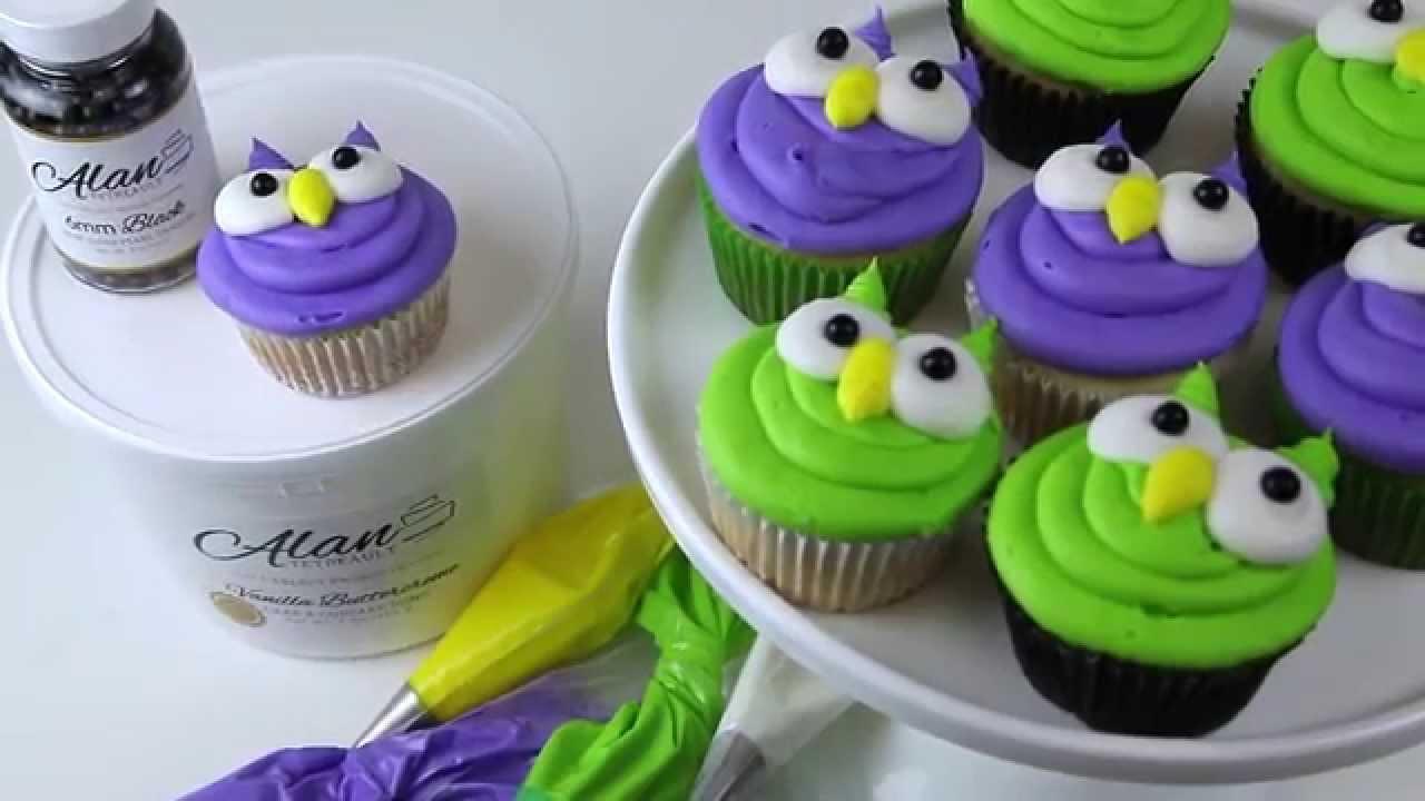 Adorable Buttercream Owl Cupcakes YouTube