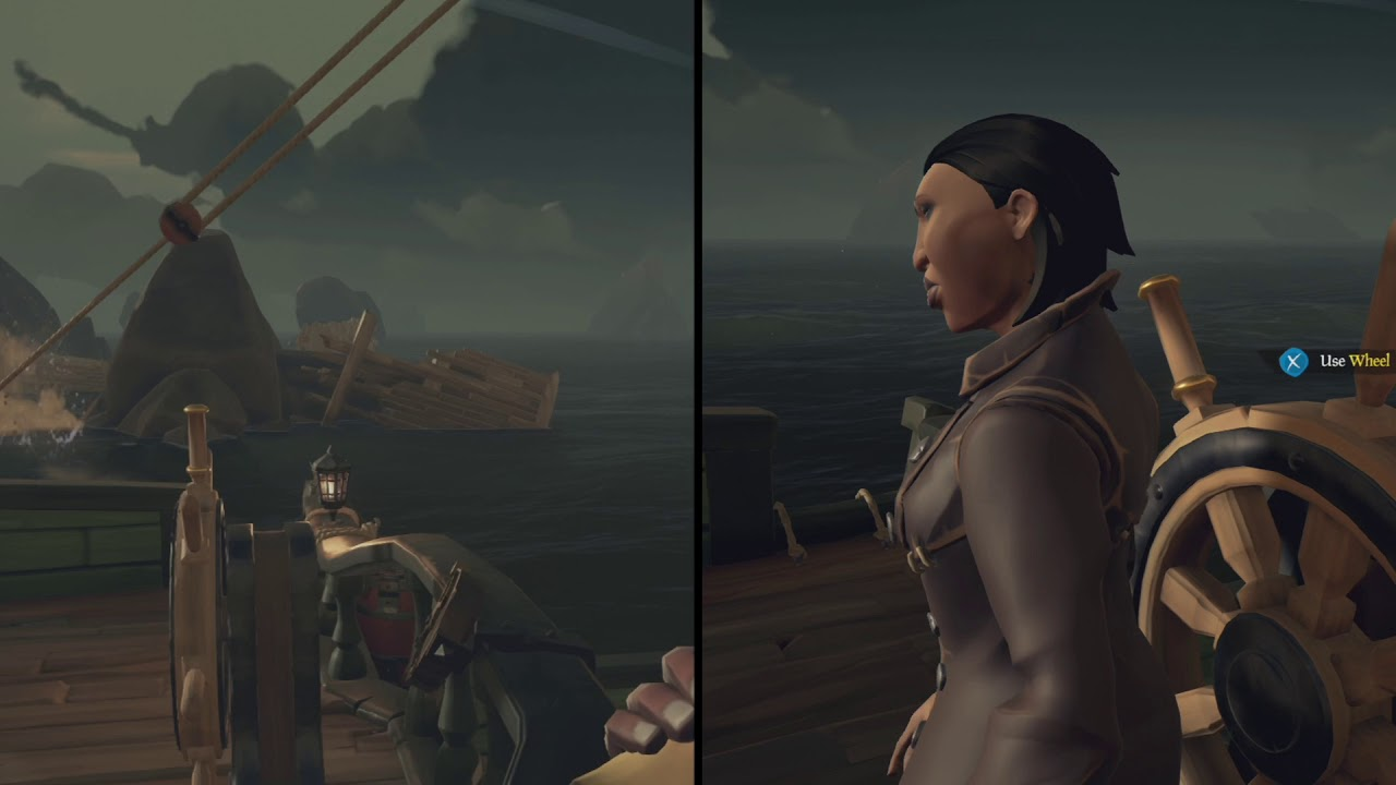Sea of Thieves | Split screen Coop | Gameplay on two Xbox One | Gameplay  cooperativo 2
