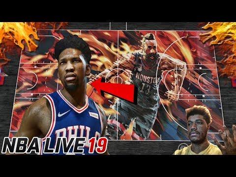 NBA Live 19 Joel Embiid Gameplay Trailer | Create - A - Court | Reaction