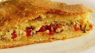 Пирог с Колбасой и Плавленым Сыром видео рецепт