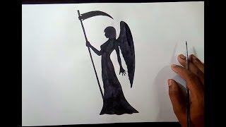 How to draw a Angel Girl Shadow