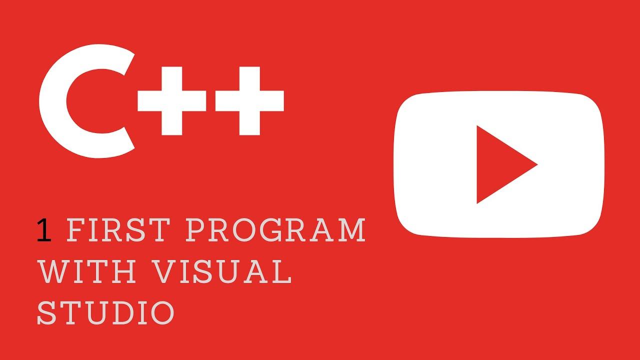 1 First C Program Using VIsual Studio 2015 YouTube