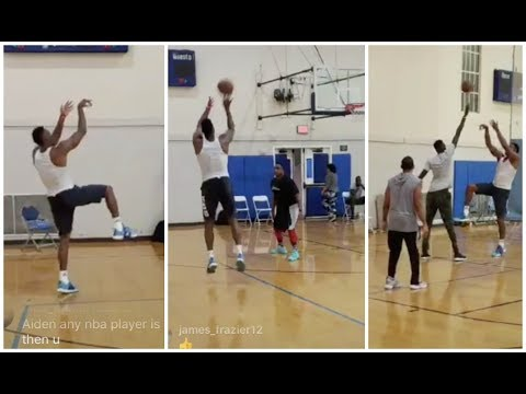 Dwight Howard working on his off the dribble 3s and one legged shots
