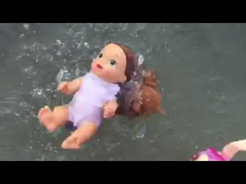 Lily And Rose Go Swimming Without Permission + Ava, Darcy, Natalie And The Twins Play In The Water